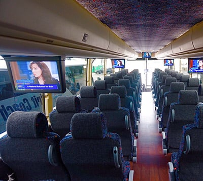 Interior of luxury coach